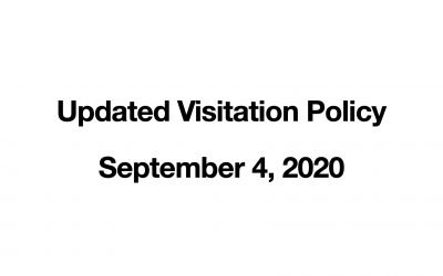 Updated Visitor Policy | September 4, 2020